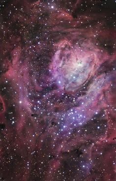 Messier 8, the Lagoon nebula. While the fanciful name Lagoon might suggest a mythical origin, there is no known mythology associated directly with this interstellar cloud. The name apparently refers to the shape with the dark lane through the middle, not unlike two lagoons separated by a sandbar.