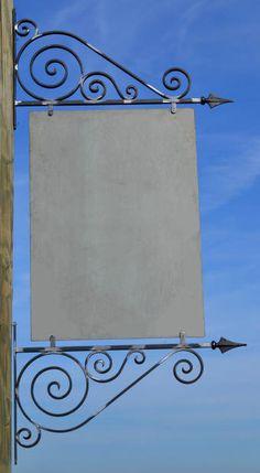 fabrication sur mesure d'enseignes style fer forgé pour commerces par un artisan Suisse Grill Door Design, Gate Design, Art En Acier, Art Fer, Home Decor Hooks, Shop Facade, Iron Candle Holder, Iron Shelf, Steel Art