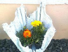 Putzlappen u Beton = Blumentopf oder Magische Licht