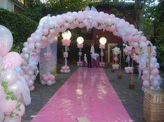 Decoraciones con globos. #lighted balloon decor #balloon column with lighting