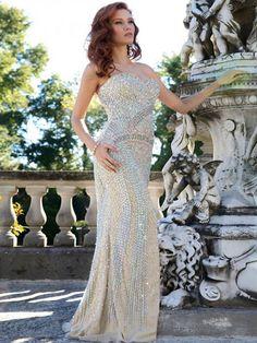 Style Sheath/Column Sweetheart Sweep/Brush Train Tulle Prom Dresses/Evening Dresses