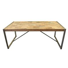 Large Salvaged Wood Desk from Bali - $3,000 Est. Retail - $1,200 on Chairish.com