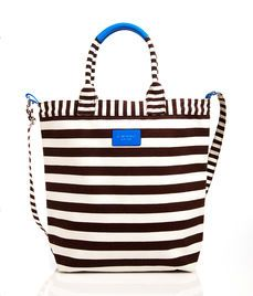 Signature Stripe Canvas Magazine Tote - I am all over this for a summer bag.