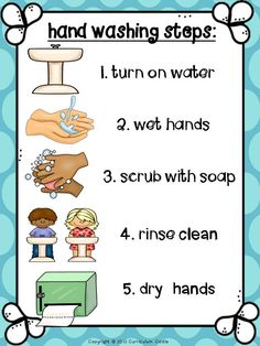 Hand washing poster $
