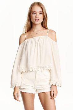 Blusa de ombros descobertos | H&M