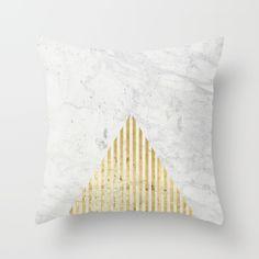 Trian Gold Throw Pillow by Simona Sacchi   Society6