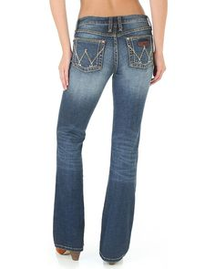 a7e20049 Wrangler Women's Mae Western Retro Bottoms Boot Cut Jeans - 09MWZMS