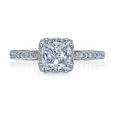 Tacori Dantela 2620PRP Halo Pave Engagement Ring