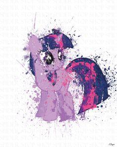Twilight Sparkle Grunge by SpiderStopShop on Etsy, $15.00