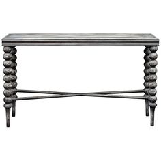 Uttermost Kunja Charred Gray Rectangular Wood Console Table - #32V73 | Lamps Plus