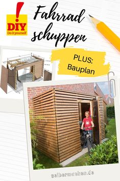 Fahrradschuppen The most popular bike shed of the self-made reader. Now with blueprint and step-by-step instructions selbermachen. Medical Health Care, Health Care Reform, Most Beautiful Gardens, Amazing Gardens, Bike Shed, Backyard Playground, Tool Sheds, Outdoor Sheds, Different Plants