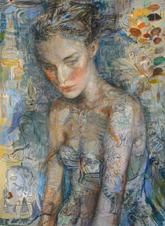 Charles Dwyer New Pastel - Original Mixed Media on Paper 42 x 31 in. Available at Boulevard Fine Art