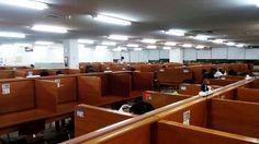 Korean library. reading room.