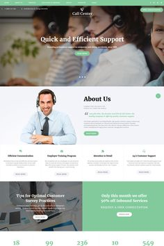 Call Center - #responsive  Call Center #business  Multipage #html5  #website  #template #67773