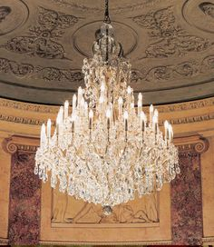 Maria Theresa crystal chandeliers | Maria Theresa crystal chandeliers in the Teatro Comunale, Modena, Italy