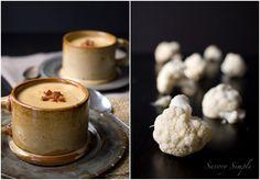 Creamy Cauliflower Bacon Soup - Savory Simple