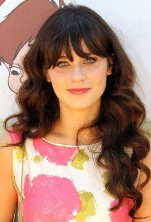 Zooey Deschanel Hairstyles, Hair Cuts and Colors Cute Easy Hairstyle Idea Leave Your Hair In Curling Iron Zooey Deschanel, Hairstyles With Bangs, Easy Hairstyles, Prettiest Celebrities, Celebrity Haircuts, Long Curls, Hair Dos, Human Hair Wigs, Her Hair