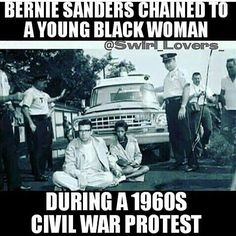 I thought this was a good example of different stories that may arise from pictures. The caption indicates this is Bernie Sanders, but is it really? Readers could automatically think that is him because the caption says so. Black History Facts, Black History Month, Bernie Sanders For President, We Are The World, African American History, Civil Rights, Black People, Real Talk, Politics