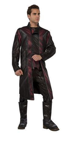 Hawkeye Avengers 2 Deluxe Adult Costume - Play a more intrical part of the Avengers, helping them to defeat the evil Ultron. This specially printed costume comes with jacket with attached shirt front and pants with attached poly foam boot covers. Pair this costume with the other Avengers or Black Widow for a great couples or group costume this Halloween, for comic con or cosplay. #yyc #Calgary #costume #Avengers #Hawkeye