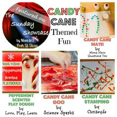 candy cane inspired activities (featured on The Sunday Showcase)