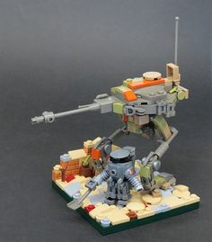 I got some Belivlle crutches and they inspired me to make something using that old grey colour. Lego Droid, Lego Robot, Lego War, Lego Memes, Origami, Lego System, Lego Trains, Lego Military, Lego Worlds