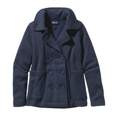 True to the original, our Women's Better Sweater® Peacoat is double breasted with a broad collar that turns up to block neck-chilling winds. Check it out.