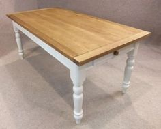 A classic piece of English furniture; this oak and pine table is a new addition to our extensive range of kitchen and dining tables for both modern and traditional homes. - See more at: http://www.peppermillantiques.com/oak-and-pine-country-farmhouse-kitchen-table-with-a-painted-base/#sthash.cf4jKFTW.dpuf