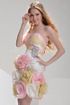 Pretty A-Line Mini/Short-Length Cocktail/Prom Dress Special Occasion Dresses