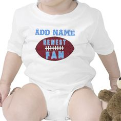 Baby Football for Baby Boys Bodysuits.  Football Stuff Fun Custom and Personalized Football Stuff for the whole family. See ALL Custom and Personalized Football Gifts CLICK HERE: http://www.zazzle.com/littlelindapinda/gifts?cg=196532339247083789&rf=238147997806552929*/  Football Leggings, Personalized Football Gifts, Keychains, Football Ornaments and so much more.  ALL of Little Linda Pinda Designs CLICK HERE: http://www.Zazzle.com/LittleLindaPinda*/