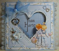 Marjan's scrapcards: Some more cards love the details on these cards esp the heart Romantic Cards, Hobby House, Love Valentines, Valentine Cards, Sarah Kay, Holly Hobbie, House Of Cards, Scrapbook Cards, Scrapbooking
