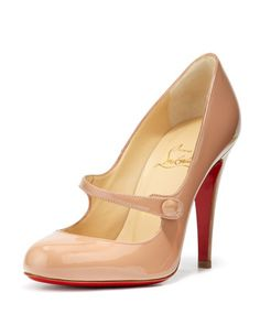 Charlene Mary Jane Red Sole Pump by Christian Louboutin at Neiman Marcus. One day...