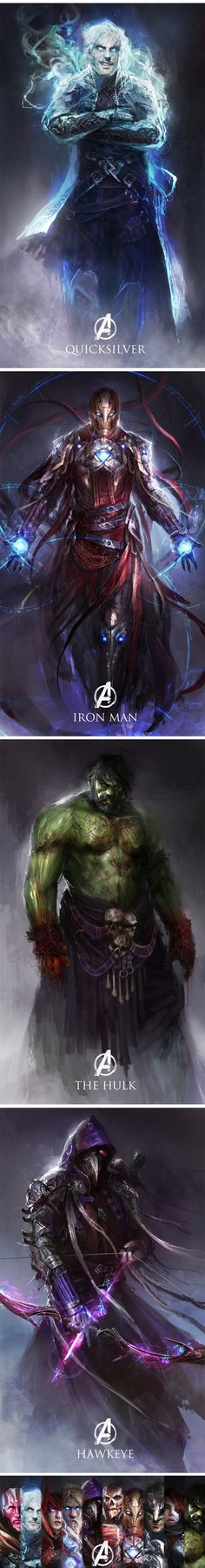 Age Of Ultron Characters Re-imagined As Medieval Fantasy. This is really cool