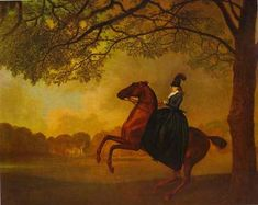 Laetitia, Lady Lade - George Stubbs. The notorious Letty Lade. No, Hero! Don't go there!