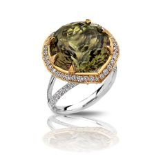 Zultanite ® Ring, 18K White and Yellow Gold, 15.03cts.  - $19,950.00 - Naturally Precious. http://zultanite.org/shop