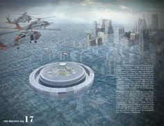 A proposal to turn the dome into a floating vessel to house the city's treasures was a competition winner. (Courtesy of the Architect's News...