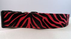 Check out this SUPER STYLISH Hot pink zebra striped dog collar!
