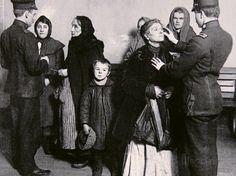 Newly Arrived Immigrants Undergoing Medical Examination on Ellis Island, New York, c.1910