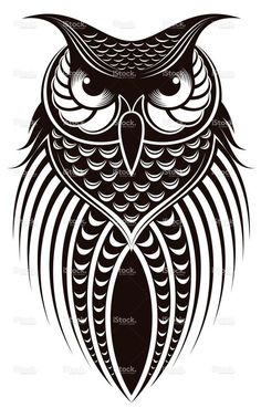 owl Royalty Free Stock Vector Art Illustration, I think this is a good concept for perler beads Owl Vector, Free Vector Art, Stencil Art, Stencils, Bird Stencil, Pumpkin Stencil, Buho Tattoo, Tattoo Owl, Owl Illustration