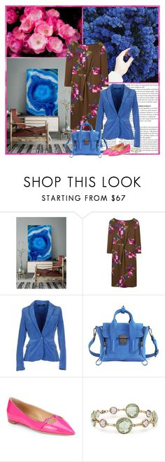 """""""PICK A FLOWER"""" by gustosa ❤ liked on Polyvore featuring Joules, Manila Grace, 3.1 Phillip Lim, Salvatore Ferragamo and Blue Nile"""