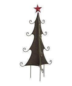 Love this Green Christmas Tree Garden Stake on #zulily! #zulilyfinds