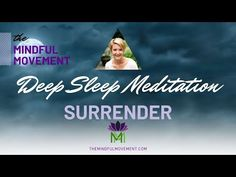 Find Inner Peace through Acceptance and Surrender While You Sleep / Mindful Movement Guided Meditation For Sleep, Guided Mindfulness Meditation, Meditation Quotes, Healing Meditation, Meditation Practices, Meditation Music, Anxiety Relief, Stress And Anxiety, Finding Inner Peace