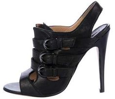 Manolo Blahnik Multistrap Slingback Sandals
