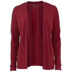Vila Catney Cardigan (110 BRL) ❤ liked on Polyvore featuring tops, cardigans, jackets, outerwear, sweaters, rumba red, red top, vila, open cardigan and open front cardigan