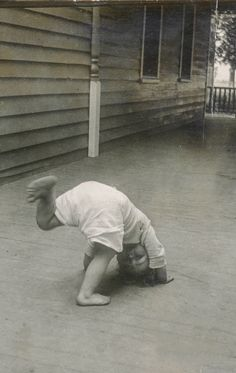 +~+~ Vintage Photograph ~+~+  Somersaults on the Porch