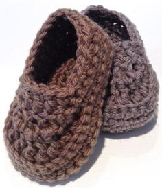 Oh Baby! Baby Boy Crochet Loafers by Judith Cahill