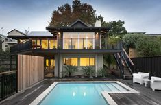 The site is situated within a leafy pocket of an inner city suburb, north facing with a view of the Waitemata Harbour. What Is Bespoke, Ely, Timeless Classic, Architecture Design, Pocket, Mansions, The Originals, Studio, House Styles