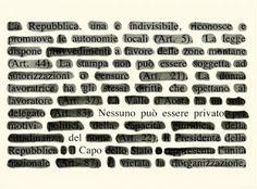 Il Blog di Beppe Sebaste: L'arte di cancellare. Incontro con Emilio Isgrò