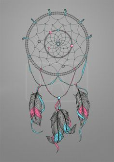 Dream Catcher Drawing on Behance #Good tattoos for you.#Love it!#