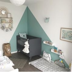 23 Clever DIY Christmas Decoration Ideas By Crafty Panda Baby Bedroom, Baby Boy Rooms, Baby Room Decor, Nursery Room, Bedroom Wall, Girls Bedroom, Kids Room Paint, Baby Room Design, Room Inspiration