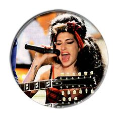 ONLY ONE Amy Winehouse 2-1/4 Inch Button